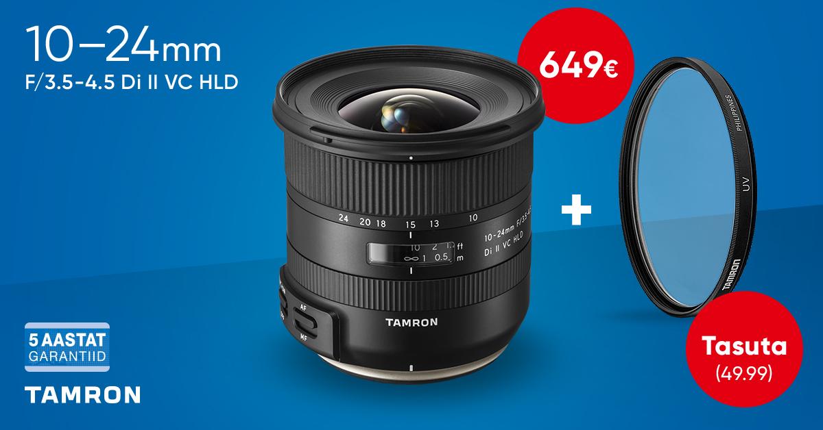 Tamron 10-24mm f/3.5-4.5 Di II VC HLD objektiiviga kaasa kingitus!