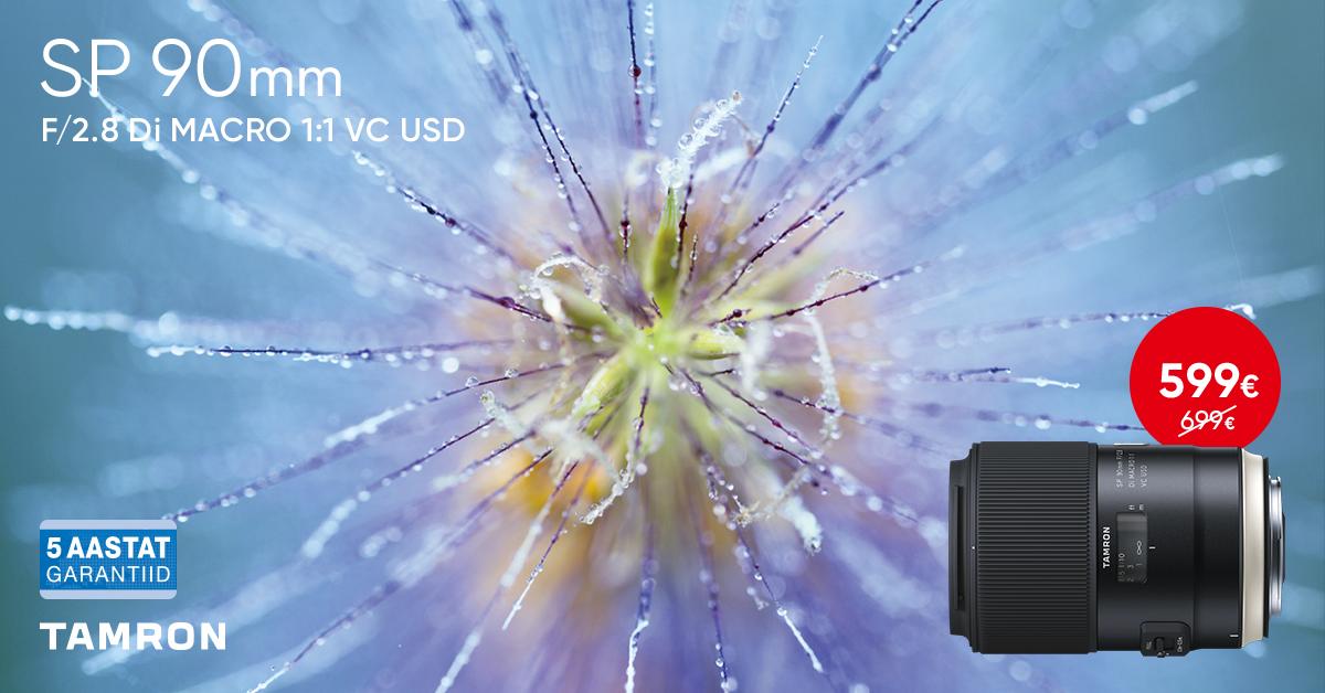 Vapustav Tamron SP 90mm f/2.8 Di VC USD septembris soodushinnaga!