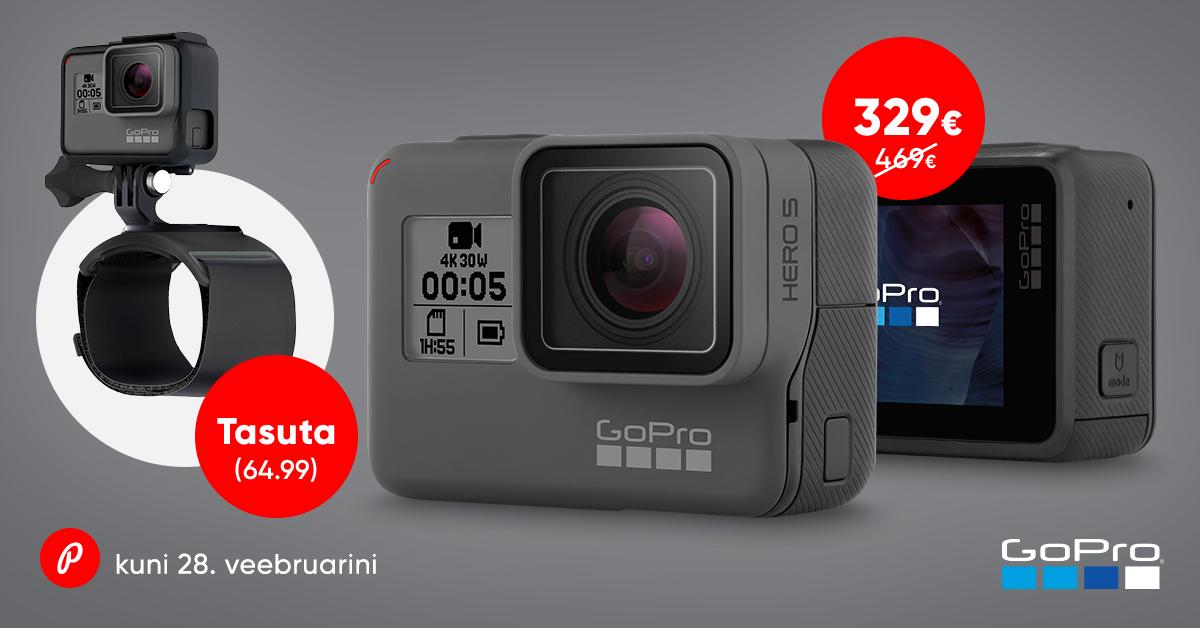 Mine seikle - GoPro HERO5 Black soodushinnaga + kaasa funktsionaalne kingitus