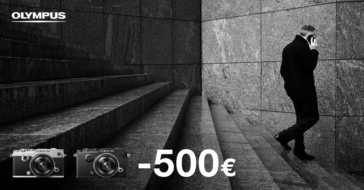 Piltilus Olympus PEN-F hübriidkaamera tavahinnast 500€ odavam