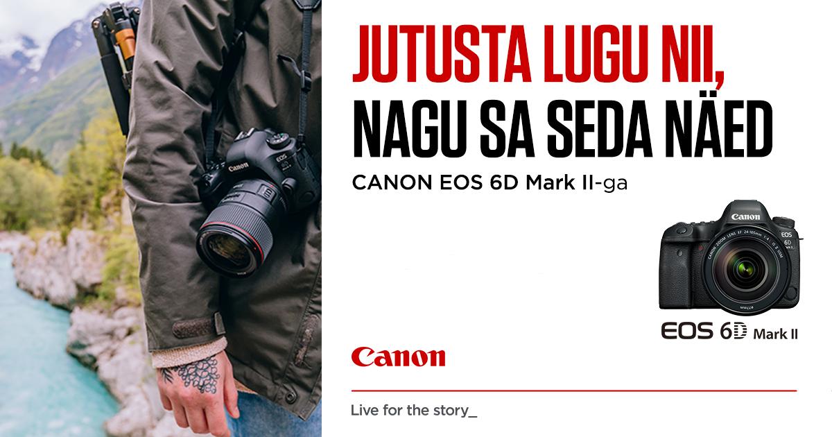 Täiskaader Canon EOS 6D Mark II ostul kingituseks akutald