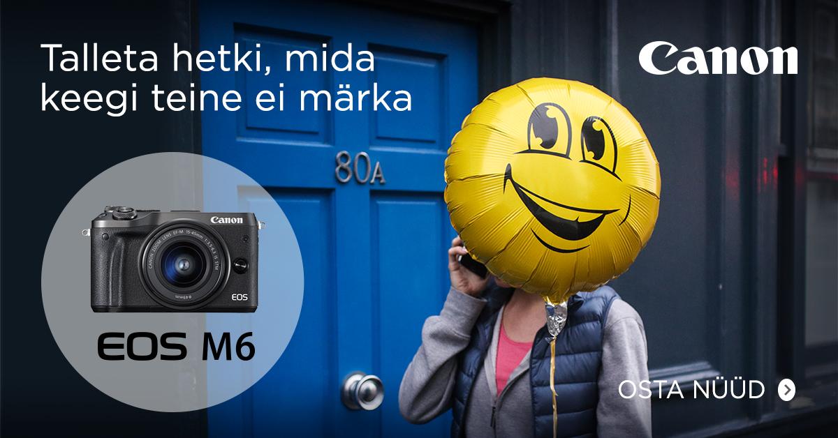 Canon EOS M6 hübriidkaamera ostul kaasa kingitus 279€ väärtuses