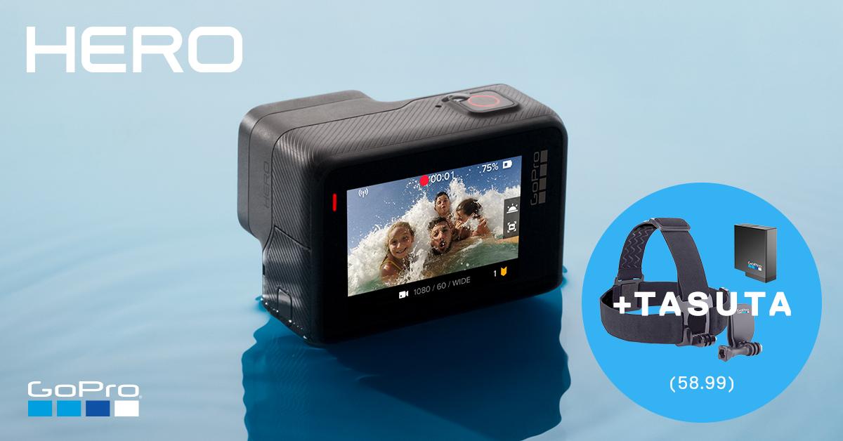 Uhiuue GoPro HERO seikluskaamera ostul saad meie poolt lausa kaks kingitust