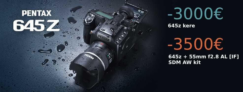 Pentax 645Z keskformaatkaamera hind tegi sõgeda languse