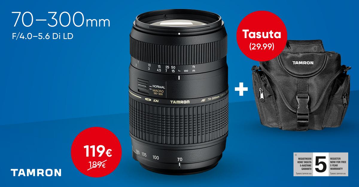 Lihtne Tamron teleobjektiiv müügil soodushinnaga + kingitus